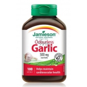 Jamieson Odorless Garlic 500 mg, food supplement with vegetable extract of 100 capsules