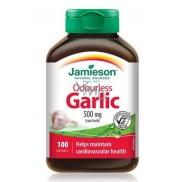 Jamieson Odorless Garlic 500mg 100 Capsules 0802