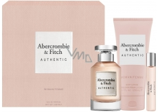 Abercrombie & Fitch Authentic Woman perfumed water 100 ml + body lotion 200 ml + perfumed water 15 ml, gift set