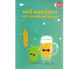 Albi Playing card in the envelope Birthday Card with beer Hospodo pour Alkehol 14.8 x 21 cm