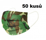 Veil 3 layers protective medical non-woven disposable, low breathing resistance 50 pieces Camouflage