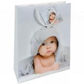 Nekupto Gift paper bag 26 x 32 x 12.5 cm Baby 1385 02 KFL