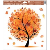 Room Decor Window foil without glue 4 seasons Autumn 33.5 x 30 cm