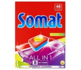 Somat All in 1 Lemon & Lime dishwasher tablets enriched with the strength of citric acid and help remove hardy dirt 48 pieces