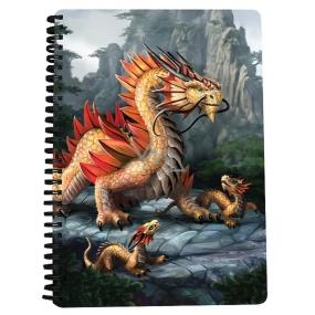 Prime3D notebook A5 - Golden mountain dragon 14.8 x 21 cm