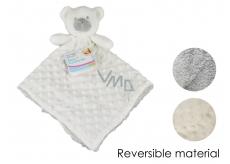 First Steps Sleeping bag with plush head White bear 30 x 28 cm
