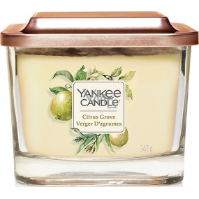 Yankee Candle Citrus Grove - Citrus Grove Soy Scented Candle Elevation Medium Glass 3 Wicks 347 g