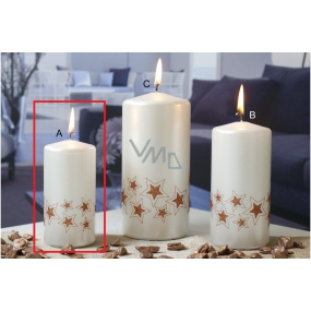 Lima Starlight candle white / copper cylinder 50 x 100 mm 1 piece