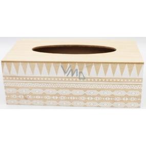 Nekupto Home Decor Wooden box for paper handkerchiefs 24 x 12 x 9 cm