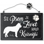 Nekupto Hafani Husky wooden sign 155 x 98 x 5 mm