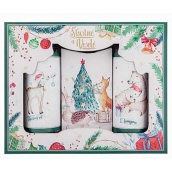 Bohemia Gifts & Cosmetics Christmas Happy shower gel 100 ml + shampoo 100 ml + soap 110 g cosmetic set