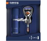 Gilette Fusion5 ProGlide shaver for men + Fusion5 Ultra Sensitive shaving gel for sensitive skin 75 ml, cosmetic set