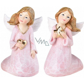 Little angel sitting old pink polystone mix 56 x 90 mm