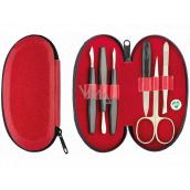 Dup Manicure Sofia leatherette 6 piece red 230402-363