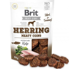 Brit Jerky Dried meat treats from herring and chicken for adult dogs 80 g