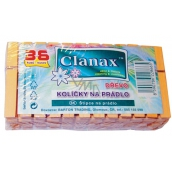 Clanax Wooden clothes pegs 36 pieces
