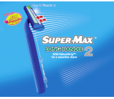 Super-Max Long Handle disposable 2-blade shaver for men 1 piece