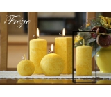 Lima Marble Freesia scented candle yellow cylinder 50 x 100 mm 1 piece