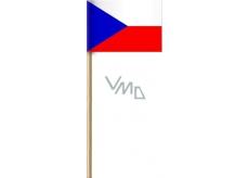 Arch Paper flag of the Czech Republic on a stick 42 cm 1 piece