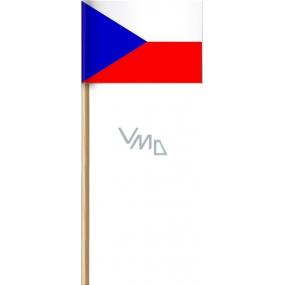 Arch Paper Flag of the Czech Republic on stick 42 cm 1 piece