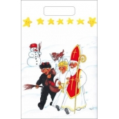 Angel Plastic bag 36 x 27 cm Snowman, dog