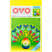 Ovo 4 powder paint for eggs 4 x 5 g 1 sachet (5 g) = 10 - 15 eggs