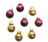 Albi Christmas ball red Aneta 2 cm