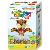 Jumping Clay Savana - Cheetah self-drying modeling clay + paper mock + creature 5+