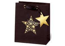 BSB Luxury Christmas paper gift bag 23 x 19 x 9 cm Star Festival VDT 417 - A5