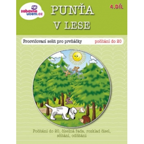 Ditipo Punťa in the forest exercise book for first-graders 16 pages 215 x 275 mm