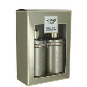 Vivian Gray Crystal Brown Luxury Hydrating Liquid Soap 250 ml + Hand Lotion 250 ml, cosmetic set