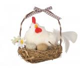 Hen in a nest 12 cm 1 piece white