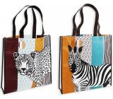RSW Shopping bag with Savana print 38 x 38 x 10 cm