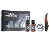 Percy Nobleman Beard Shampoo 30 ml + nourishing beard oil conditioner with fragrance 30 ml + beard wax 20 ml + beard comb and mustache, men's beard care