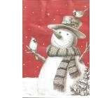 Ditipo Gift paper bag EKO 22 x 10 x 29 cm red, white snowman