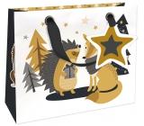 Nekupto Gift paper bag luxury small 18 x 16 cm Christmas WLIS 1784