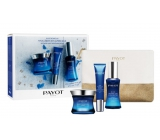 Payot Blue Techni Liss Jour Smoothing Chronoactive Cream 50 ml + Regard Smoothing Chronoactive Gel 15 ml + Concentrate Filling Chronoactive Serum 30 ml, + toiletry bag, cosmetic set