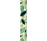 Ditipo Wrapping paper white with green leaves 100 x 70 cm 2 pieces