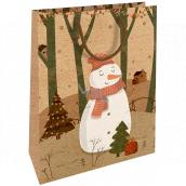 Nekupto Gift kraft bag 28 x 37 Christmas snowman 607 WKHL