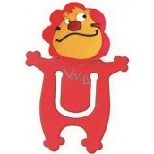 Bookmark cheerful decorative Lion about 5 cm