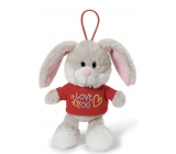 Nici Love You Rabbit in a T-shirt with a 15 cm curtain