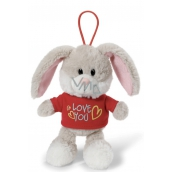 Nici Love You Rabbit in a shirt with a curtain of 15 cm