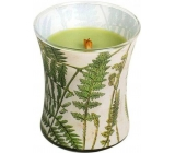 WoodWick Candle Glass Medium Decal Fern