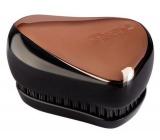 Tangle Teezer Compact Professional compact hair brush, Rose Gold Black - rose gold