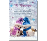 Albi Envelope Playing Card For Christmas Two Snowmen Cover version Jingle Bell rock 15.5 x 22 cm