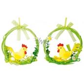 Wreath of green hanging hen, tap 14 cm 1 piece