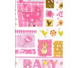 Nekupto Gift paper bag 32.5 x 26 x 13 cm Baby girl pink 1 piece 1558 30 KFL