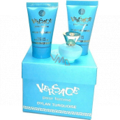 Versace Dylan Turquoise Eau de Toilette for Women 5 ml + body gel 25 ml + shower gel 25 ml, mini gift set