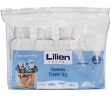 Lilien Travel Kit travel set bottle with screw cap 3 x 75 ml + cream container 3 x 10 ml