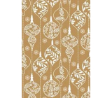 Ditipo Gift wrapping paper 70 x 200 cm Golden white ornaments